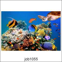 Adesivo Decorativo Parede Fundo Do Mar Lindo Oceano Job1055