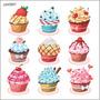 Adesivo Decorativo Parede Cupcake Doce Docinhos Fofo Job0867