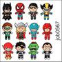 Adesivo Decorativo De Parede Super Heróis Pequenos Job0567