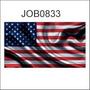 Adesivo Decorativo Estados Unidos Bandeira Job0833