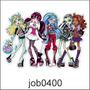 Adesivo Decorativo Parede Meninas Monster High Fofo Job0400