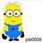Adesivo Minion Óculos Meu Malvado Favorito Job0008