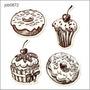 Adesivo Decorativo Parede Donuts Rosquinhas Doce Job0872
