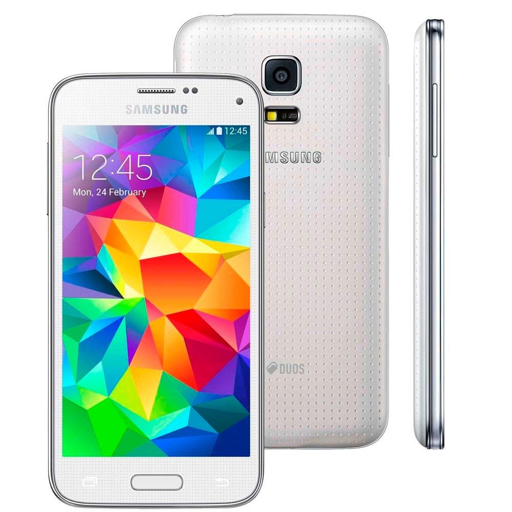 smartphone samsung galaxy s5 mini duos g800h 16gb 8mp r. Black Bedroom Furniture Sets. Home Design Ideas