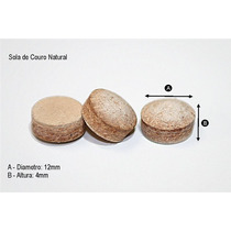 15 Pçs Ponta De Couro (sola) Para Taco De Bilhar / Sinuca