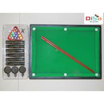 Mini Mesa De Sinuca Bilhar Infantil Grande 52x38cm- 16 Bolas