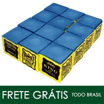 Giz Triangle Azul 12 Peças Para Taco De Bilhar (10919)
