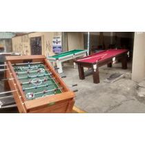 Kit Premium : Mesa De Bilhar, Pebolim E Ping Pong