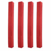 Cantoneira Reta Plástica Vermelha Para Mesas 4 Peças (11829)