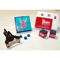 Bilhar,sinuca,master,prendedor,giz Kit Reparador/sola 10mm