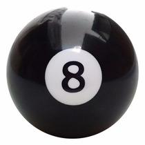 Bola De Sinuca Bilhar Avulsa 54mm Numerada N° 8 Preta 10327