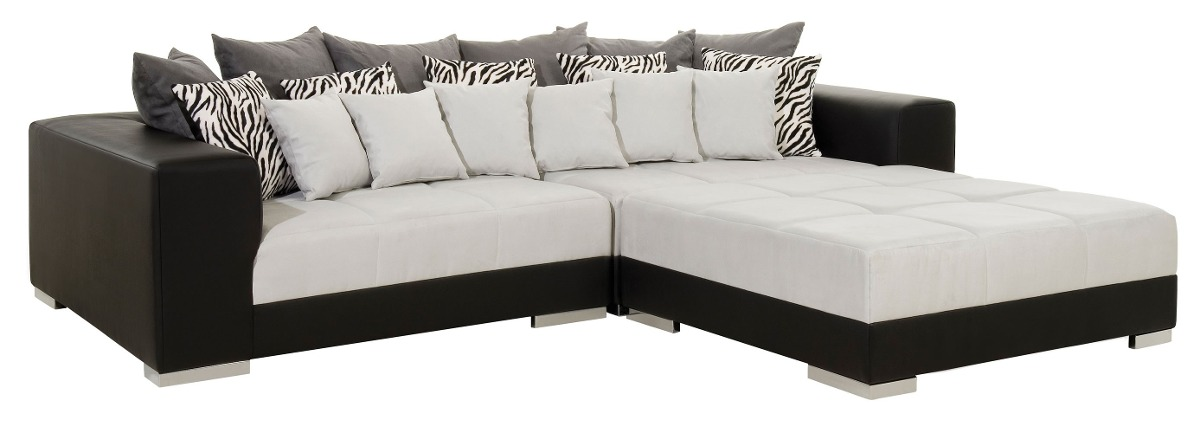 Sof 2 lugares com puff que vira chaise r no for Sofas com chaise e puff