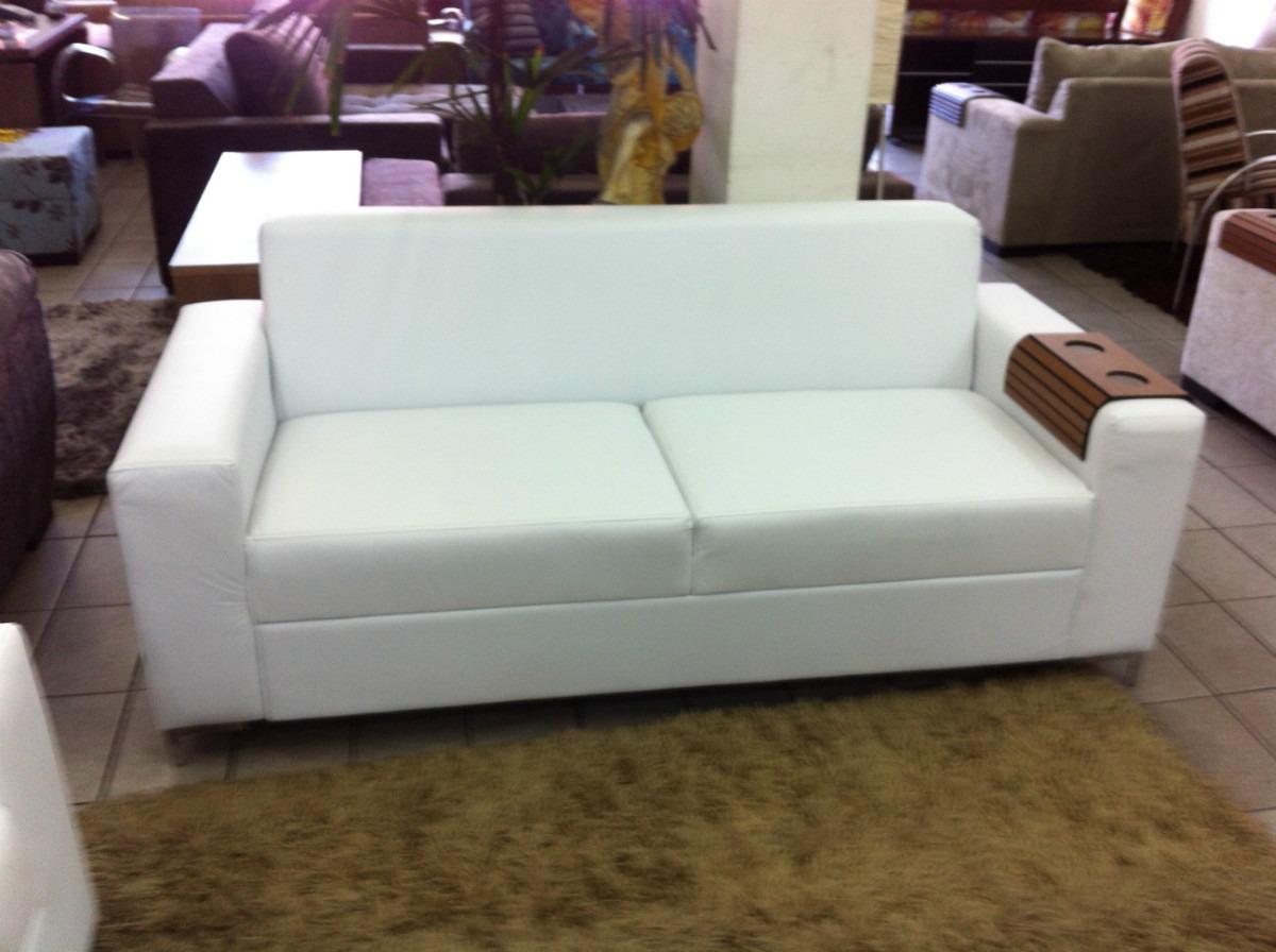 Sofa corino 3 lugares branco ou preto direto da fabrica for Sofa fabrica