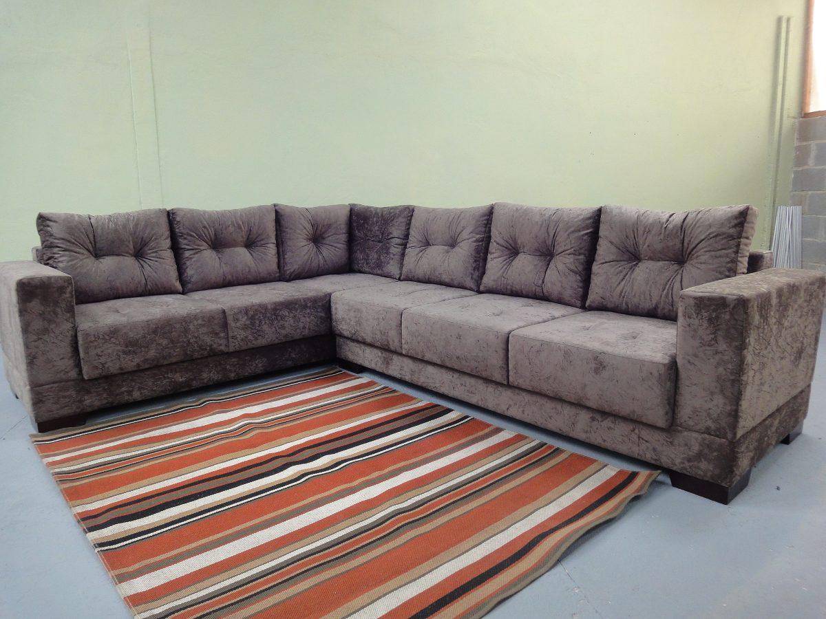 Sofa De Canto Tecido Veludo Chenile Corino Novo - R$ 2.995 ...
