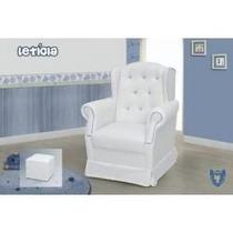 Poltrona Amamentação E Puff Saia Letícia Marinho/ Azul Royal