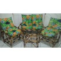 Conjunto De Bambu/vime Sofá/poltronas/cadeiras