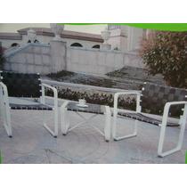 Conjunto Mesa + 2 Cadeiras Para Jardim Ou Sacadas