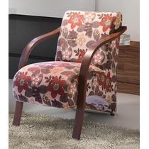Cadeira Decorativa Braço Em Madeira Ou Alumínio Decor Mobile