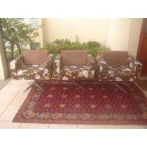 Poltrona Cadeira Florais Com Tecido Novo Impecavel