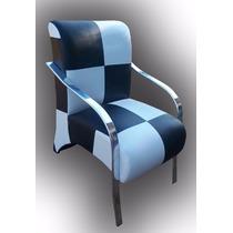 Cadeira Decorativa Poltrona Sala Estar Recepção Patchwork