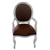 Cadeira De Jantar Medalhão Lisa C/ Braço / Decoração
