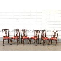 Conjunto Cadeiras P/ Mesa De Jantar Entalhadas