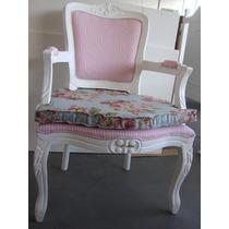 Poltrona Cadeira Amamentação, Decoração Luiz Xv Com Almofada
