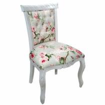Cadeira Luis Xv Entalhada Capitonê S/ Braço - Wood Prime