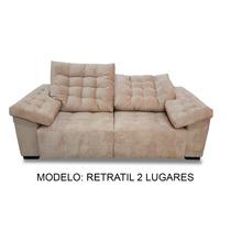 Sofa Retratil 2 Lugares 2.30m - (tecido Linho)