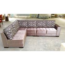 Sofa De Canto Tecido Veludo Brilhante