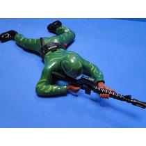 Soldado Eletronico Verde Camuflado Som & Luz Rastejante