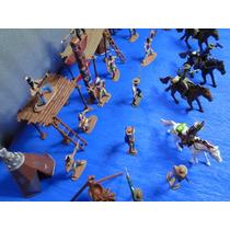 54 Peças Forte Apache Indio Cowboy Totem Cavalo Cabana Tripé