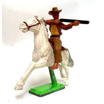 Brq - Gra - Britains 1971 Cowboy A Cavalo C/ Rifle - 10x8cm