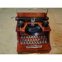 Linda !!!! Miniatura Musical Maquina De Escrever Porta Joias
