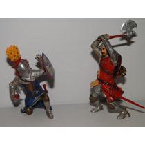 02 Gladiador Romano Em Combate Lutador Guerreiro Figura 10cm