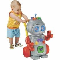 Andador Robo Vermelho Com Luz E Varios Acessorios Magic Toys