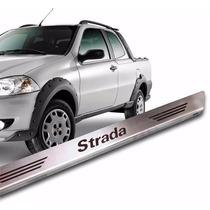 Soleiras De Porta Em Aço Inox Escovado Fiat Strada