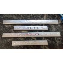 Soleira Polo Vw Volksvagen Aço Inox Esportivo Lindo Carro