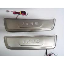 Protetor De Soleira Com Led Em Aço Polido Para Ix35