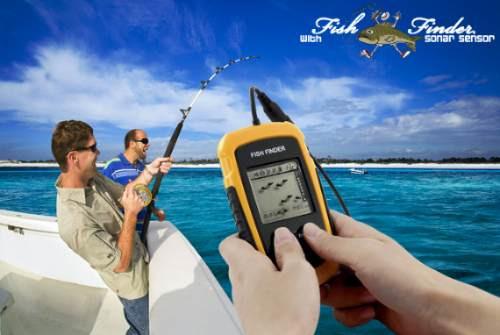 Sonar Portátil Localizador De Peixes Fish Finder Sensor 9m