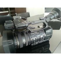 Filmadora Profissional Sony Hvr Z7 Com Gravador Mc1+cartao+b