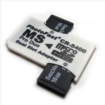 Adaptador Para Micro Cartão Sd/tf Dual 2 Slot Cr-5400