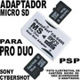 Adaptador Para Micro Sd Virar Pro Duo Psp Camera Digital