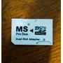 Adaptador Dual Micro Sd Para Ms Pro Duo 32gb Frete Único