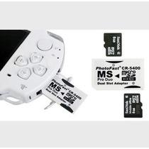 Cartão Psp 8gb Já Vem Com 150 Jogos Com Adaptador Branco