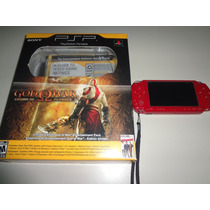 Psp 2001 Slim Versão God Of War Na Caixa Com Manual