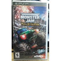 Jogo Monster Jam Path Of Destruction Psp (original)