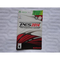 Manual Pes 2014 Pro Evolution Soccer Xbox 360