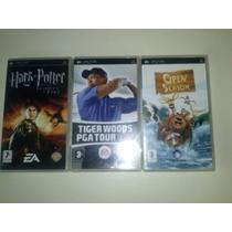 3 Jogos Originais Psp + 1 Filme