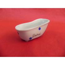 Banheirinhas Porcelana Lembrancinhas Chá Bebe Poa Azul Novo